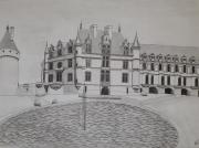 dessin architecture : Le château de Chenonceau
