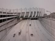 dessin architecture stade paris psg peripherique : Le Parc des princes vu du périphérique