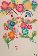 tableau fleurs : La Fleuriste