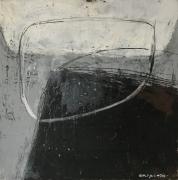 tableau abstrait epuration sensibilite pyrenees : Peinture