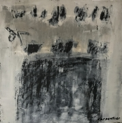 tableau abstrait epuration spirituel pyrenees : Peinture