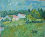 tableau paysages impressionnisme campagne charente maritime : Fontcouverte