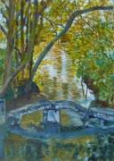 tableau paysages impressionnisme ruisseau charente maritime : ruisseau