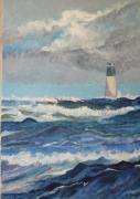 tableau marine phare mer charente maritime : phare saint-denis-d'Oléron
