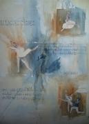 tableau scene de genre tchaikowsky danse aquarelle : lac des cygnes