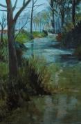 tableau paysages marais poitevin impressionnisme : marais poitevin2