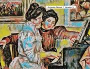 art numerique personnages piano lerolle christine auguste renoir : Yvonne et Christine Lerolle au piano Version 5