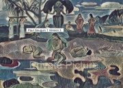 art numerique scene de genre tahitiennes mythologie maoris gauguin : Mahana No Atua Version 3