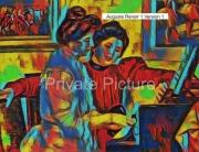art numerique personnages piano yvonne christine auguste renoir : Yvonne et Christine Lerolle  au piano Version 1
