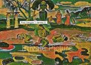 art numerique scene de genre tahitiennes mythologie maoris gauguin : Mahana No Atua Version 5