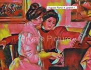 art numerique personnages piano lerolle christine auguste renoir : Yvonne et Christine Lerolle au piano Version 4