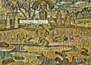 art numerique scene de genre tahitiennes mythologie maoris gauguin : Mahana No Atua Version 4