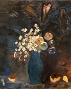 tableau fleurs nature lumiere citrine explosion : Energie
