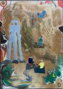tableau scene de genre aquitaine bordeaux meditation spiritualite : Appelons le Harmonie