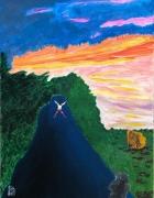 tableau autres beaute paysage joie serennite : Bonheur sur le chemin