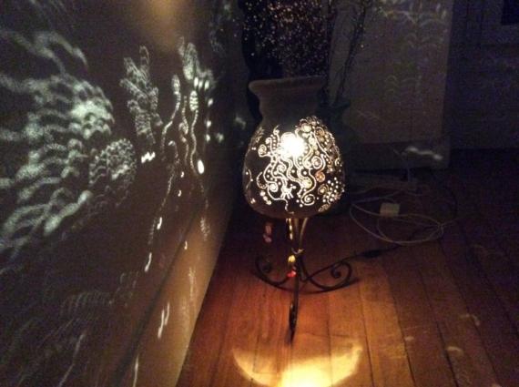 DéCO, DESIGN Decor vase luminaire Vase miminaire Abstrait  - vase luminaire