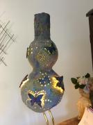 deco design personnages luminaire decor maison artisanat : Luminaire papillonart