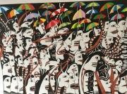 tableau personnages : Parapluies