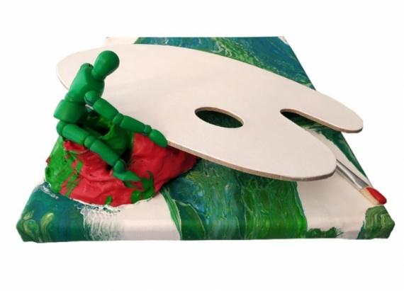 ARTISANAT D'ART palette de peinture écologique art recyc œuvres créateurs art créateur palettes d&  - l'écolo