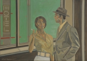 tableau personnages peinture jazz jazz painting prostituee prostitute : SWEET JANE