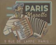 tableau personnages paris parisien jazz : PARIS MUSETTE