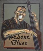tableau personnages peinture jazz peinture blues portrait jazz portrait blues : HABANA BLUES