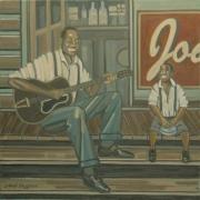 tableau personnages peinture blues peintures blues peinture jazz peintures jazz : AU PAYS DU MISSISSIPPI