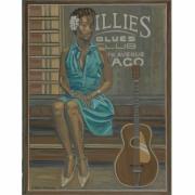 tableau personnages singer blues jazz painting peinture blues : KINDHEARTED WOMAN