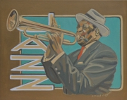 tableau personnages jazz peinture jazz musicien jazz trompettiste jazz : JAZZ TRUMPET PLAYER