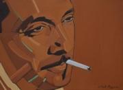 tableau peinture jazz jazz painting portrait jazz django reinhardt : DJANGO'S LIGHT