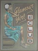 tableau personnages femme blues jazz painting peinture jazz : GLAMOUR GIRL