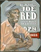 tableau personnages peintures blues peinture blues blues art jazz art : EARLY JOE RED
