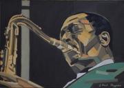 tableau personnages peinture jazz jazz painting portrait jazz jazzman : GIANT STEPS