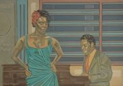 tableau personnages peinture jazz jazz painting peintures jazz peinture blues : JAZZ CLUB PARIS