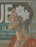 tableau personnages peintures blues peinture blues peinture jazz peintures jazz : JAZZ à SAINt-GERMAIN-DES-PRES