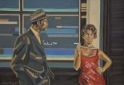 tableau personnages glamour jazz paris portrait : SANDRA