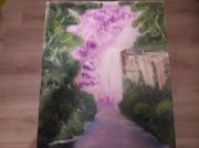 tableau paysages : Cascade rose