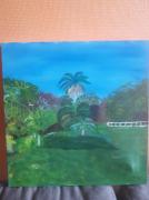 tableau paysages : Jardin des pamplemousse