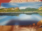 tableau paysages : Le lac de l ospedale corse