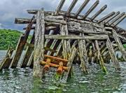 photo marine bretagne epave kerhervy lanester : Cimetière bateaux Kerhervy Lanester (56)