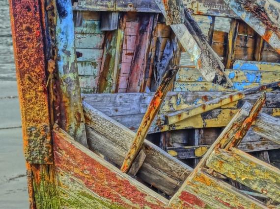 PHOTO Epave couleur bateaux bois Marine  - Epave Larmor Plages-Kernevel (56)