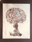 dessin abstrait : Arbre de vie