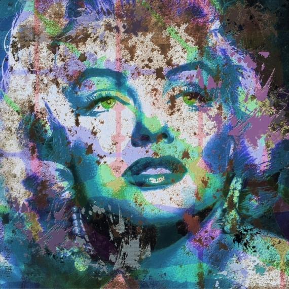 ART NUMéRIQUE Marylin Monroe star Hollywood Personnages  - Marylin Monroe