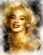 art numerique personnages marylin monroe star hollywood : Marylin Monroe