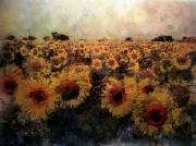 art numerique fleurs fleurs tournesols : tournesols