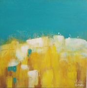 tableau paysages summer paysage yellow moderne : Ete
