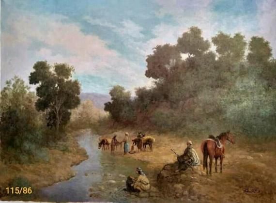 TABLEAU PEINTURE Paysages Peinture a l'huile  - Oued mallagou