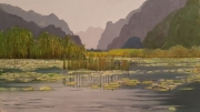 tableau paysages vietnam baie d along te : Sérénité