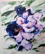 tableau fleurs : Mauve