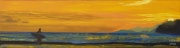 tableau sport surfeur coucher de soleil mer board : Shade of the Surfer N°4